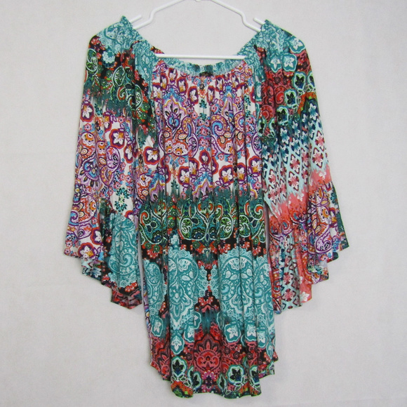 586c370cecb Cupio Tops - Cupio Off the Shoulder Paisley Floral Print Blouse
